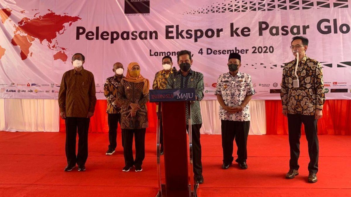 Pemulihan ekonomi nasional, Jokowi lepas ekspordi 16 provinsi senilai Rp 23,75 triliun