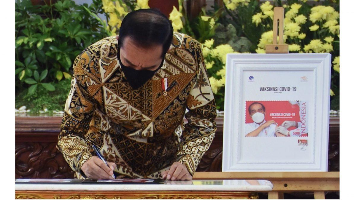 Jokowi luncurkan Program Konektivitas Digital 2021 dan Prangko Seri Gerakan Vaksinasi Nasional COVID-19