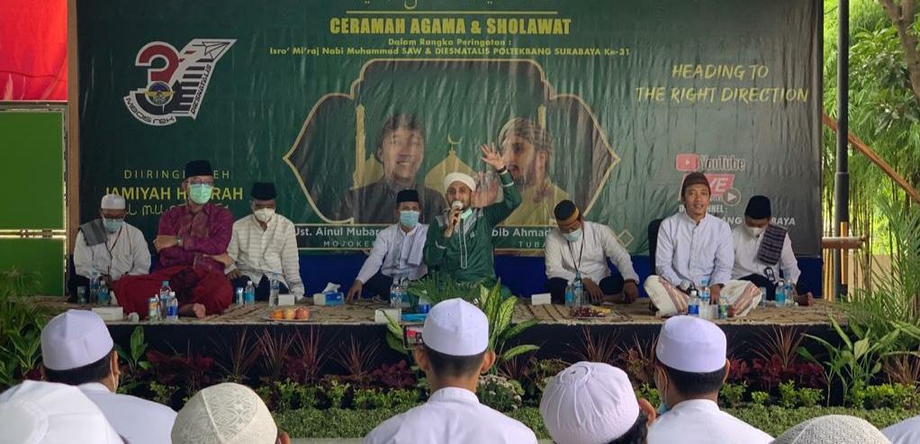 Dies Natalis ke-31 Poltekbang Surabaya meriah dengan istighotsah, shalawat hingga padat karya