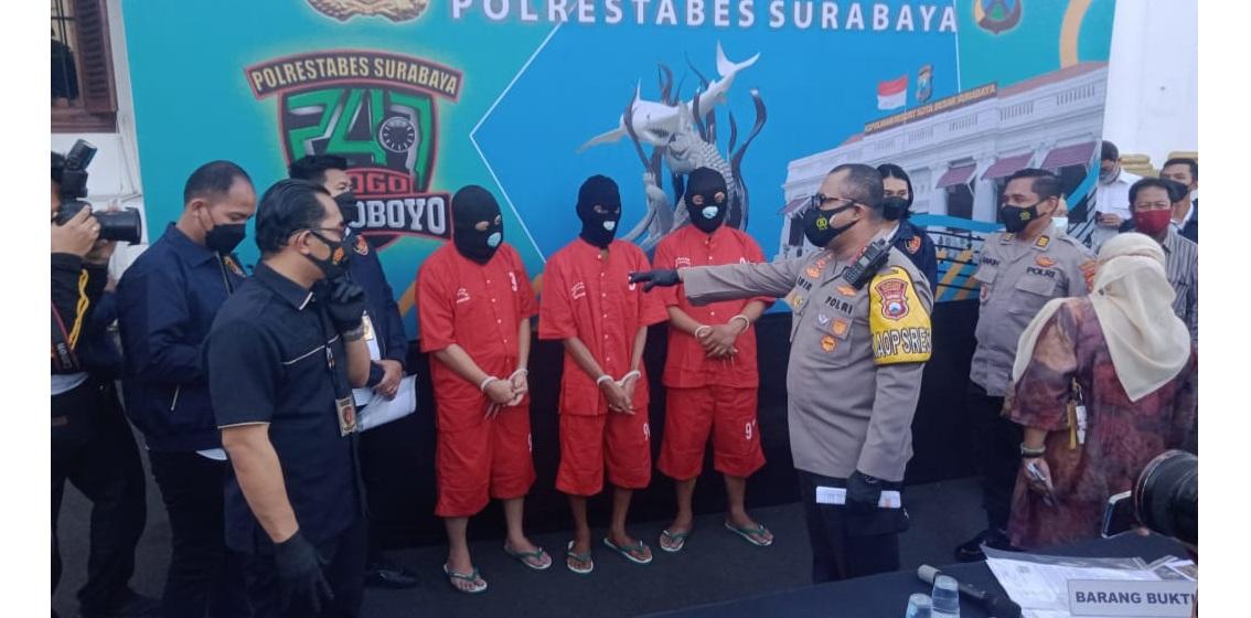 Polrestabes Surabaya tetapkan 4 tersangka kasus penyerobotan tanah Jl Manukan