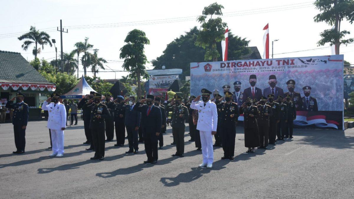 Jokowi pimpin Upacara Virtual HUT Ke-76 TNI, Dandim Madiun: Kodim 0803/Madiun siap melaksanakan arahan presiden